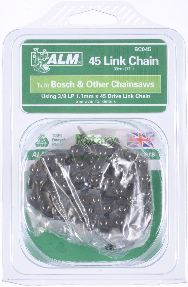 "Chainsaw Chain for 30cm (12"") bar with 45 Drive links"