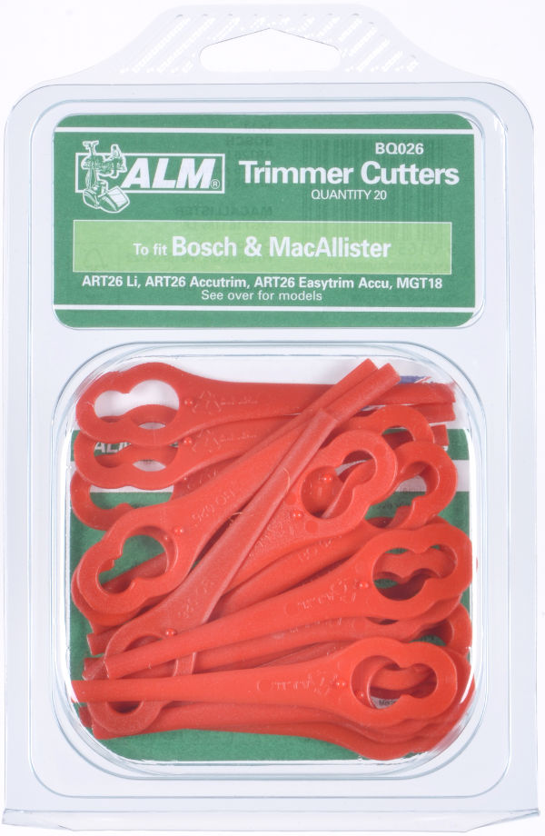 Plastic Blades (Red) for Bosch & other trimmers - 20 Pack