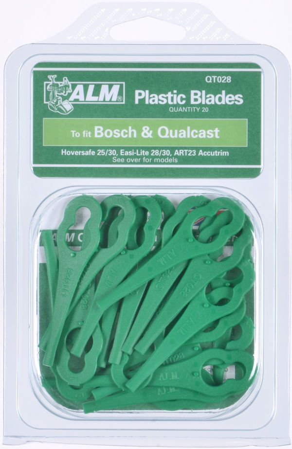 Plastic Blades for Bosch, FloraBest, Qualcast, Sovereign mowers