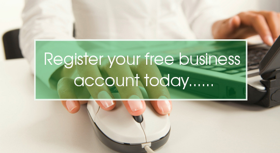Register a business account