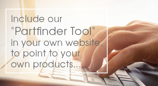 Include our Partfinder Tool in your website