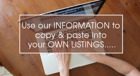 Copy & Paste our information
